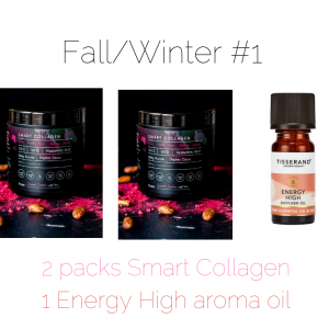 smart collagen and tisserand aroma blend ehergy high