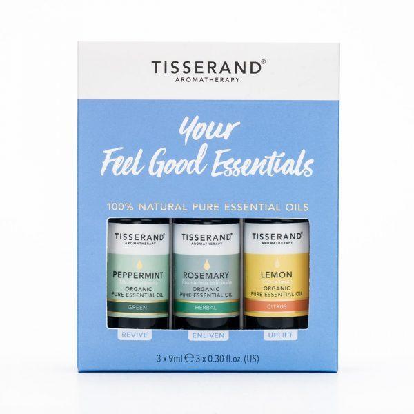 етерични масла Tisserand сет лимон, розмарин, мента