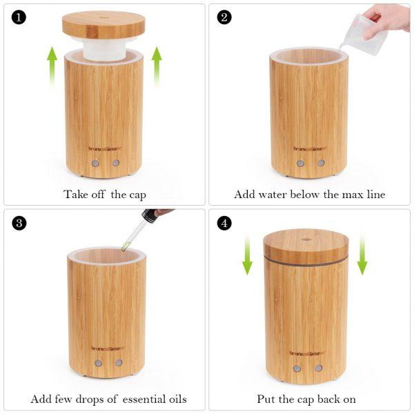 арома дифузер естествен бамбук