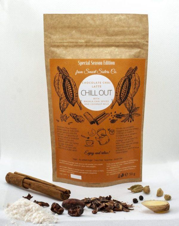 Какаов чая с масала подправки и кокосово мляко 50 гр