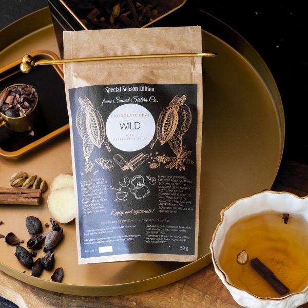 Chocolate Chai Wild какаов чай с масала подправки