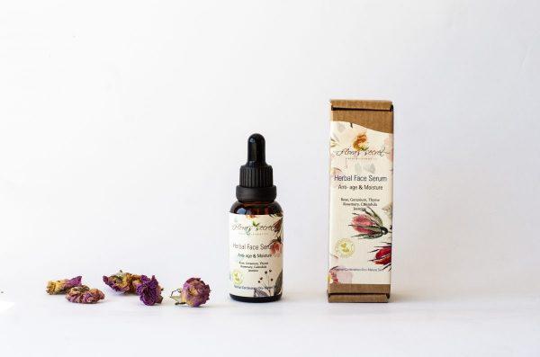Билков серум за лице Anti-age & Moisture - при нормална към комбинирана, суха и/или зряла кожа - 30мл flora`s secret
