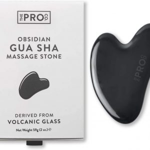 гуа ша плочка за масаж на лице обсидиан