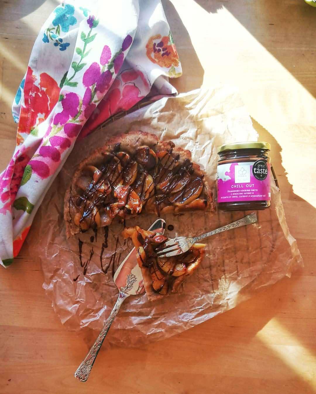 tarte tatin с течен шоколад