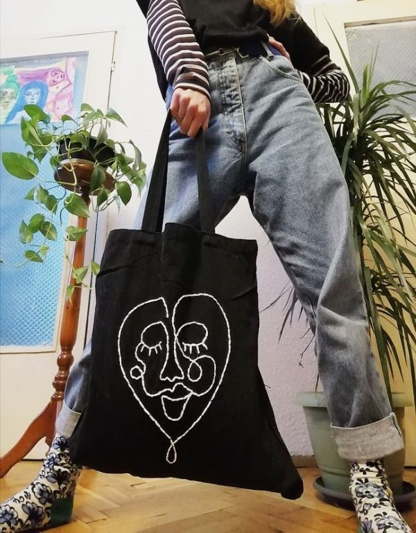 памучна чанта tote bag Celine