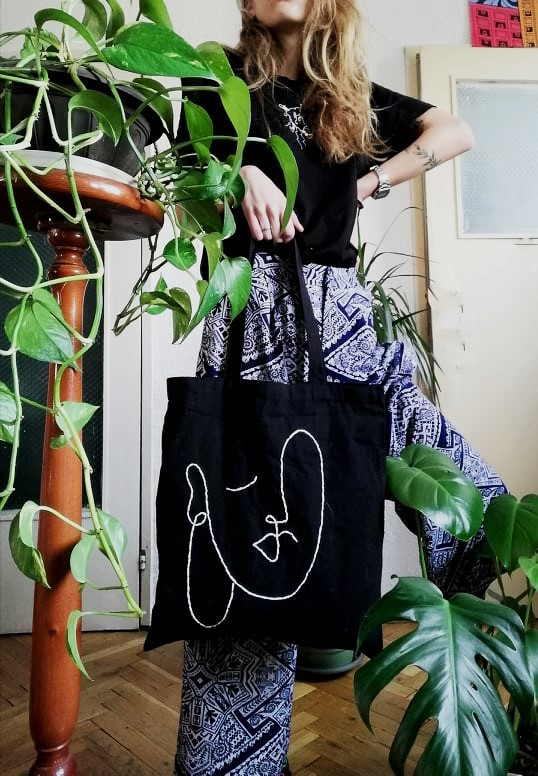 памучна чанта tote bag Audrey 2