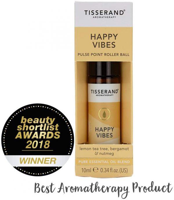 бленд етерични масла от лимоново чаено дърво, бергамот, индийско орехче happy vibes tisserand