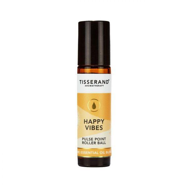 бленд етерични масла от лимоново чаено дърво, бергамот, индийско орехче happy vibes tisserand 2